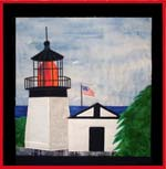 Cape Meares Lighthouse applique quilt pattern from Sentries of Light - Select image to enlarge