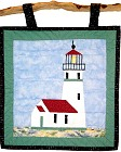 Cape Blanco Lighthouse paper pieced quilt pattern from Sentries of Light - Select image to enlarge