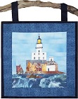 Tillamook Rock Lighthouse paper pieced quilt pattern from Sentries of Light - Select image to enlarge
