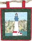 Grays Harbor Lighthouse paper pieced quilt pattern from Sentries of Light - Select image to enlarge