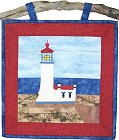 North Head Lighthouse paper pieced quilt pattern from Sentries of Light - Select image to enlarge