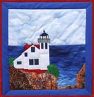 San Luis Lighthouse applique quilt pattern from Sentries of Light - Select image to enlarge