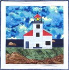 Cape Arago Lighthouse applique quilt pattern from Sentries of Light - Select image to enlarge