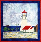 Cape Blanco Lighthouse applique quilt pattern from Sentries of Light - Select image to enlarge